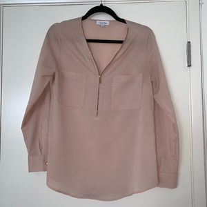 Light Pink/Nude Long Sleeve Blouse